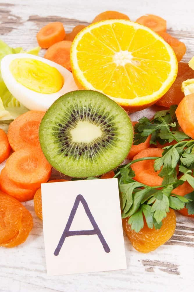 13 Vitamins from A to K vitamin A