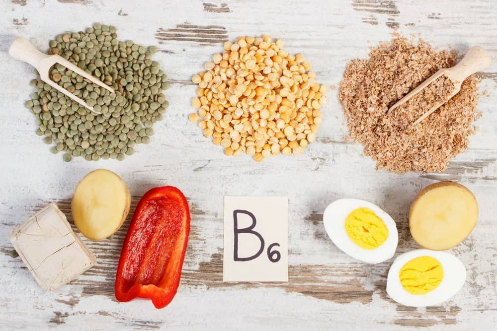 13 Vitamins from A to K vitamin B6