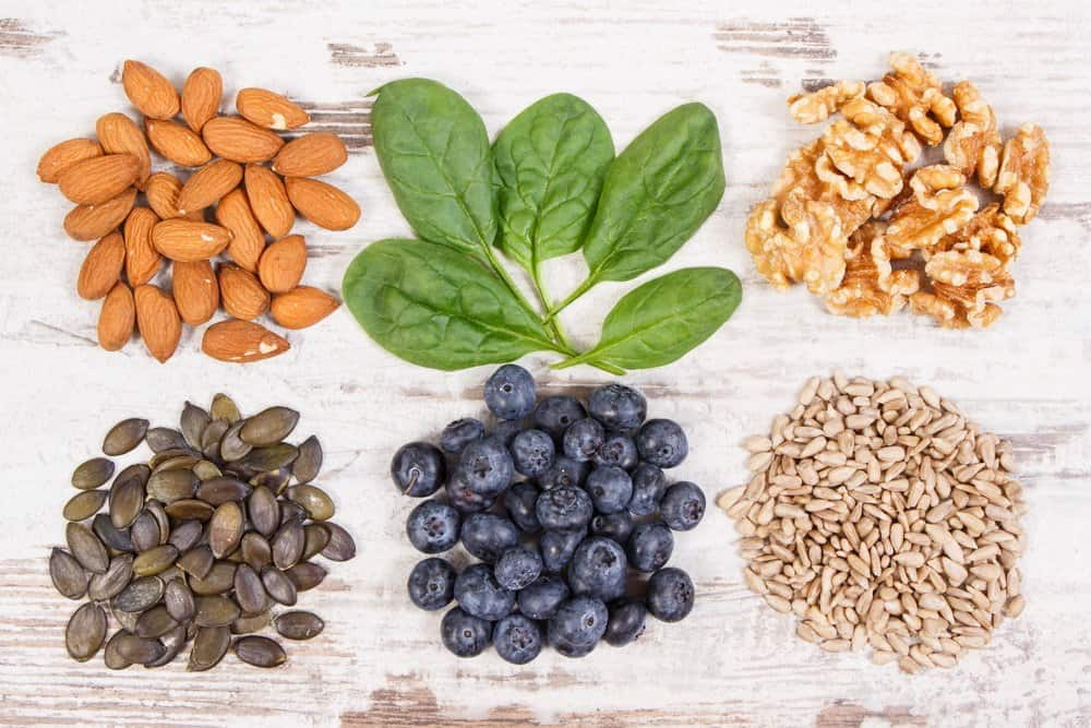 13 Vitamins from A to K vitamin E