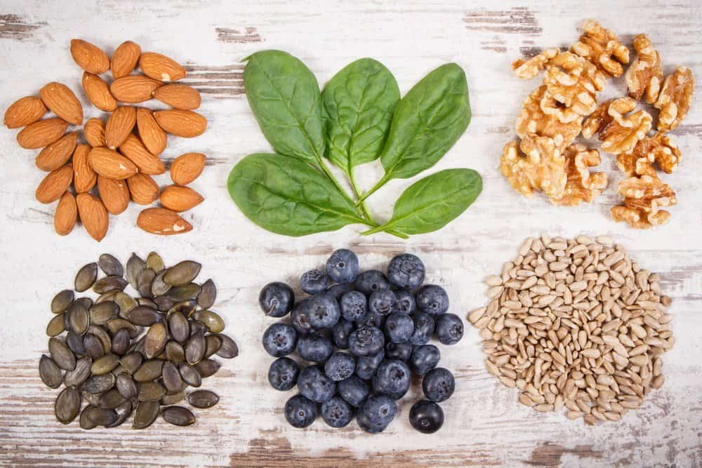 Natural ingredients as source vitamin E, minerals and dietary fiber