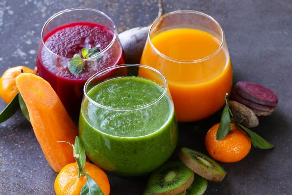 assorted-fresh-juices-from-fruits - Diet Smoothies for Weight Loss