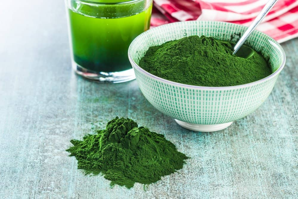 Chlorella or green barley. Detox superfood. Spirulina powder. - Organifi Green Drink Review