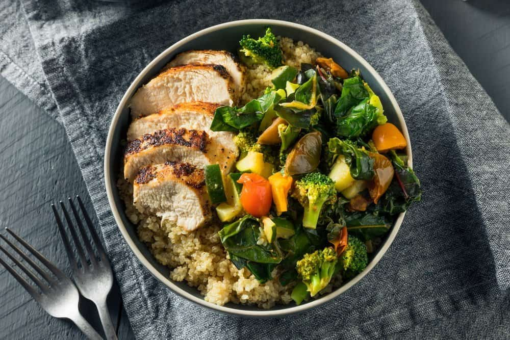 Healthy Chicken and Quinoa Bowl with Roasted Veggies - The Metabolic Reset Diet Plan