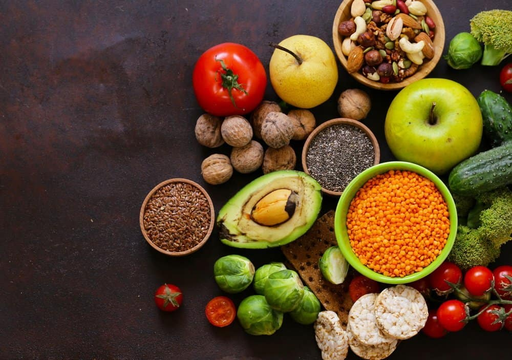 healthy eating ingredients super food - chia and flax seeds, goji berries, nuts - A Natural Way to Detox Your Body