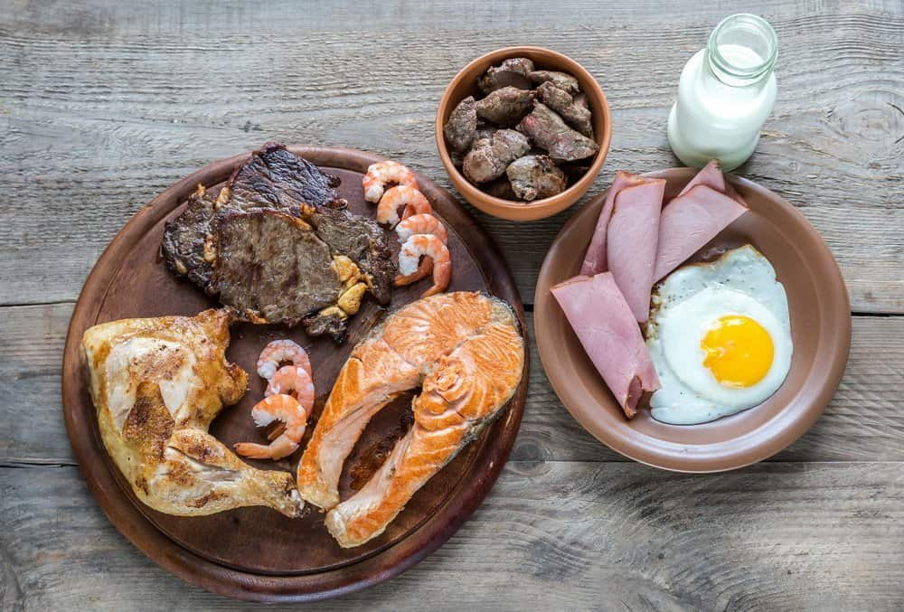 Protein diet:cooked products
