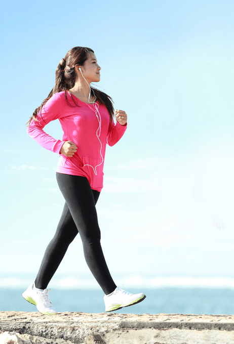 Woman Walking - 10 Ways to Lose Belly Fat