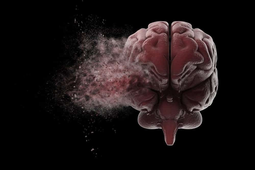 Human brain exploding over black background. 3D illustration - Amazing Facts About Fitness