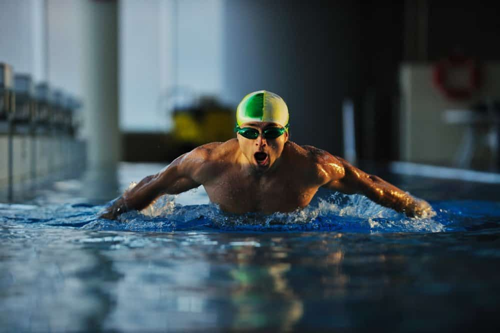 health and fitness lifestyle concept with young athlete swimmer recreating  on olimpic pool - Top 10 Ways to Weight Loss