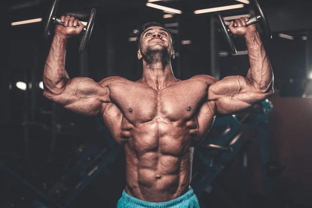 Young fit muscular man workout training in the gym gaining weight pumping up muscle - How to begin in Body Building?