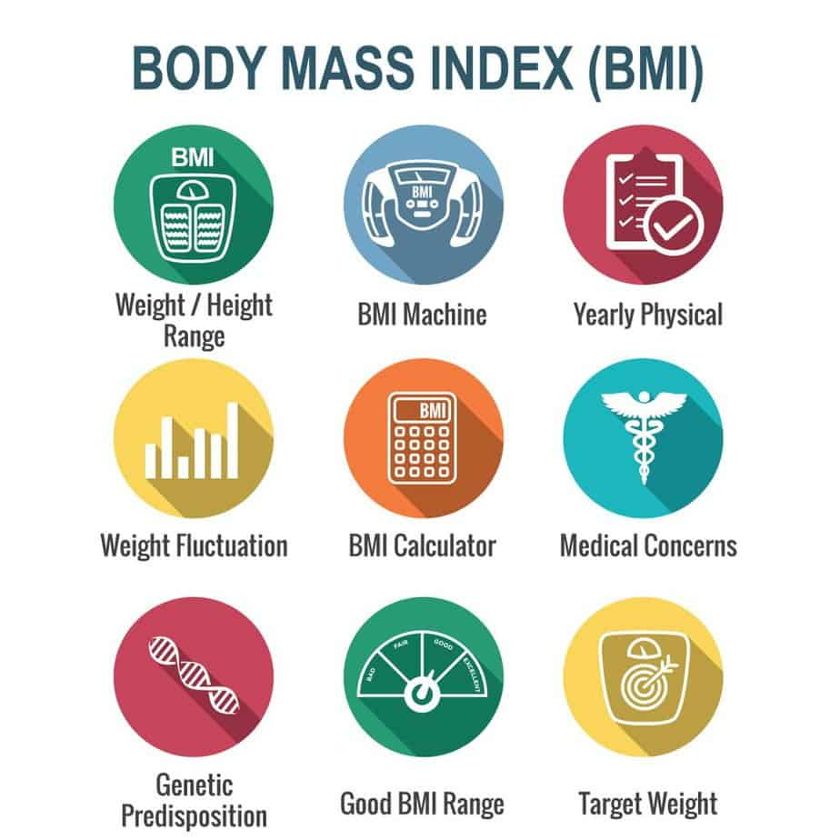Body Mass Index (BMI) Icons scale, indicator, and calculator - Body Mass Index (BMI) Accurate & Scientific Calculation Tools