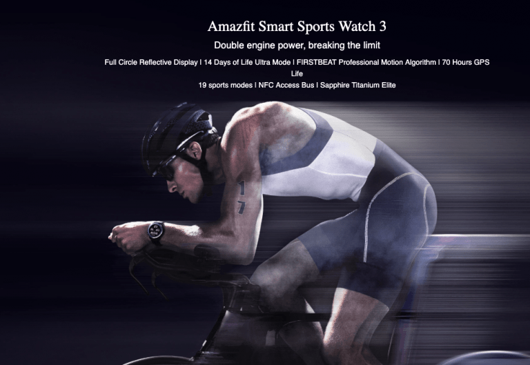 Amazfit Smart Sports Watch 3 features