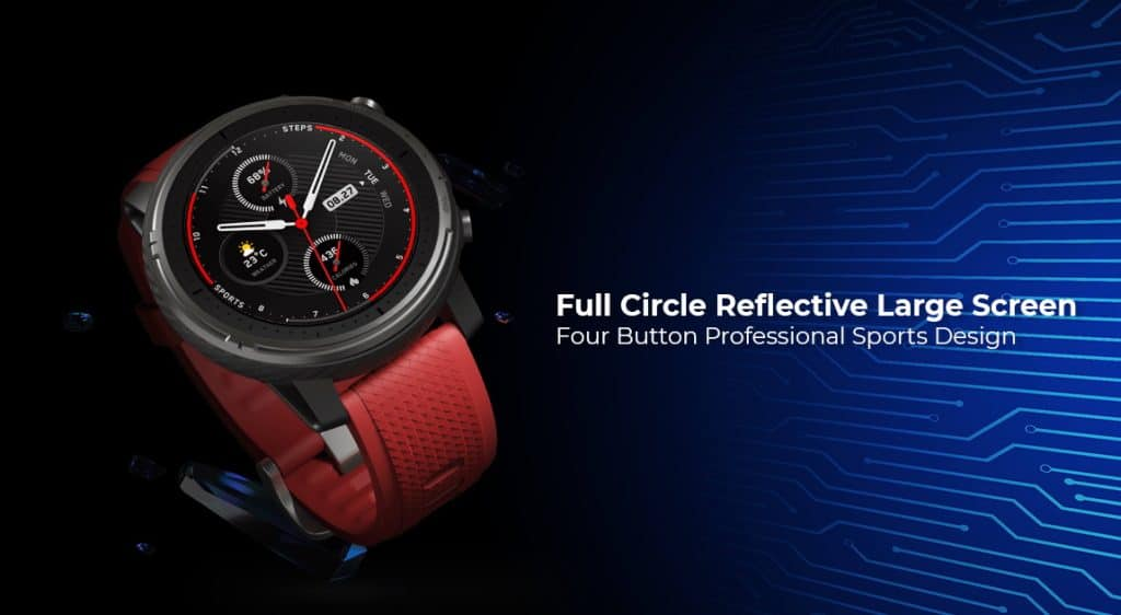 Amazfit Smart Sports Watch 3 offers reflective large screen