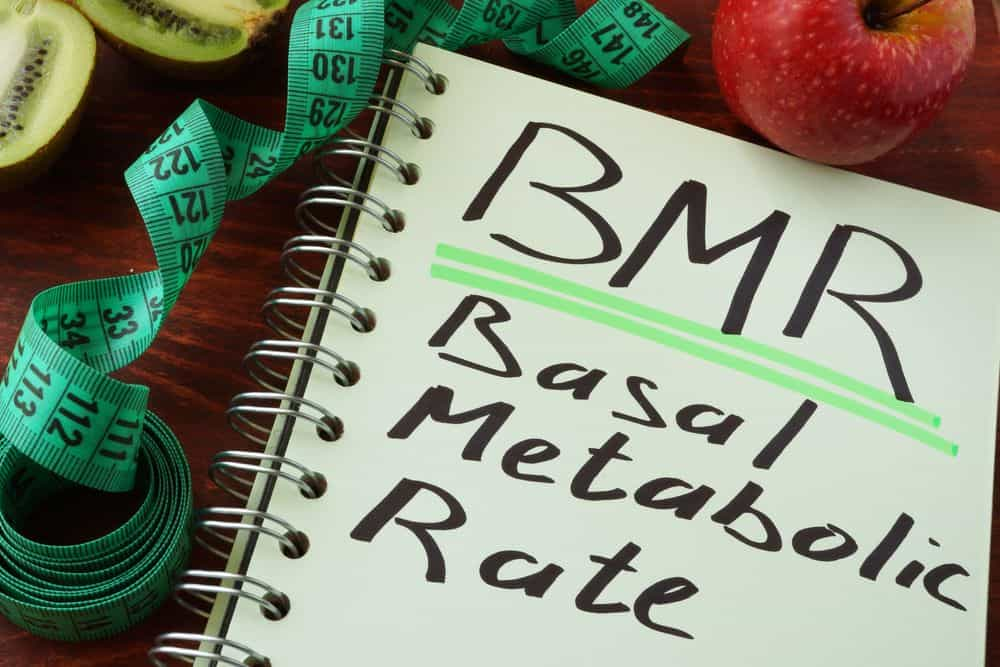 BMR Basal metabolic rate on a notepad - Natural ways to speed up your metabolism