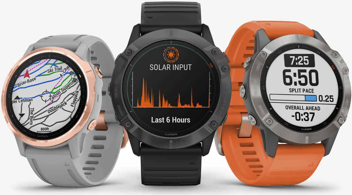 Garmin Fenix 6 Series different versions
