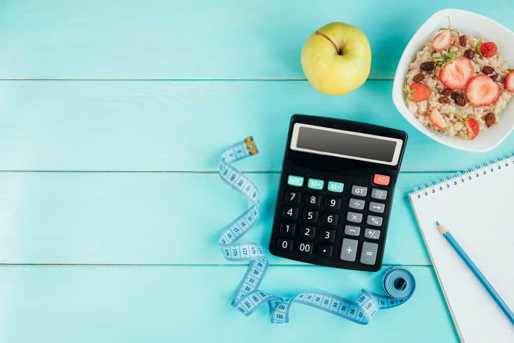 Healthy lifestyle, diet concept. Counting calories - Total Daily Energy Expenditure Calculation Tool (TDEE)