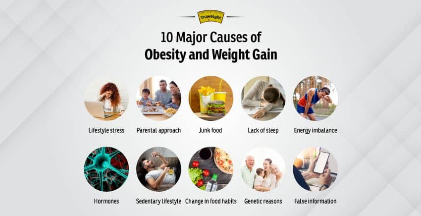 10 Major Causes of Obesity and Weight Gain