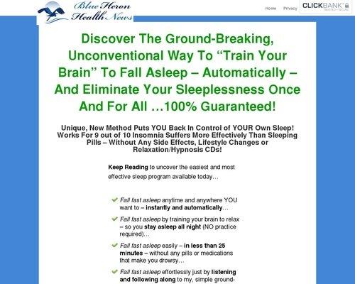 Natural Insomnia Program - Blue Heron Health News 1