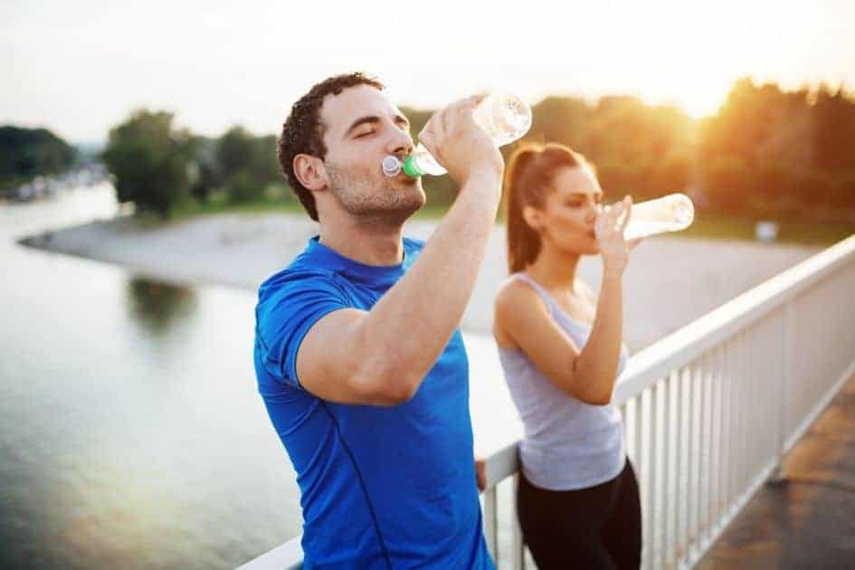 Drinking plenty of water can help keep your muscles and