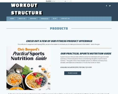 Products | Workout Structure