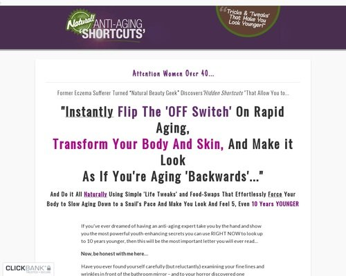 Natural Anti-aging Shortcuts - New High-converting Anti-aging Offer! 1