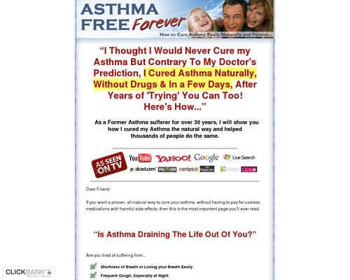 Asthma Relief Forever - How to Cure Asthma Easily, Naturally and Forever 1