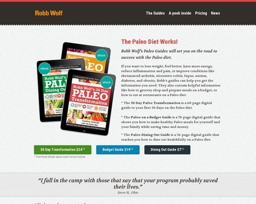 Paleo Diet Guides from Robb Wolf 1