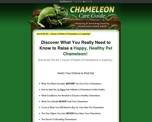 Chameleon Care Guide - Keeping and Breeding Healthy Chameleons Made Easy! 1