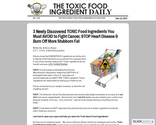 101 Toxic Food Ingredients - New Conversion Breakthrough 1