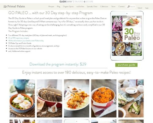30 Day Paleo Diet Meal Plan | Shopping Lists | Easy Recipes | Primal Palate | Paleo Recipes 1