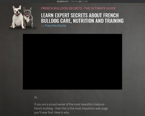 French Bulldog Secrets - The Ultimate Guide 1
