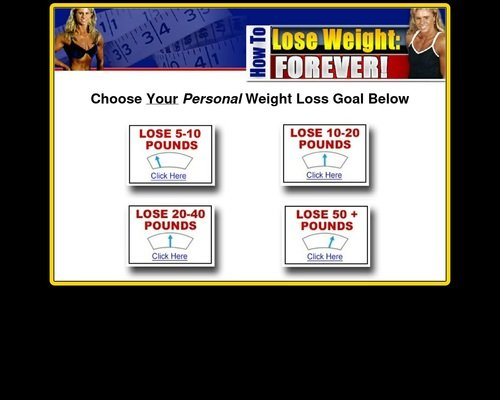 What's your weight loss goal? 1