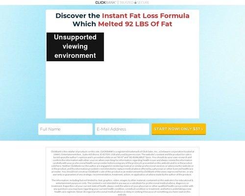 Instant Fat Loss Formula 1