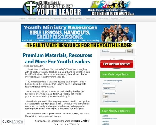 Youth Ministry Group Lessons – ChristianTeenWorld.com 1
