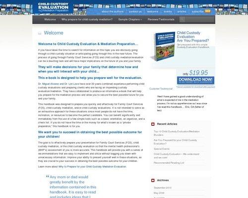 Child Custody Evaluation And Mediation Preparation 1