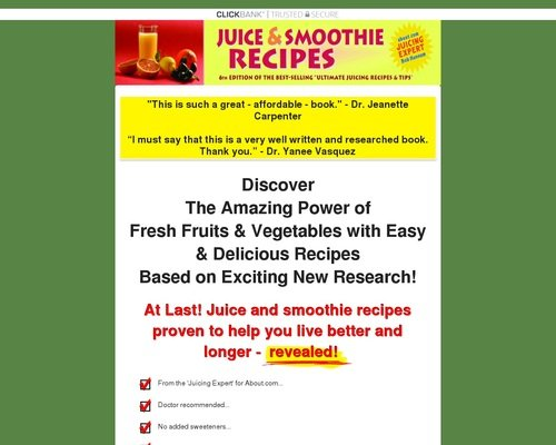 Juice and Smoothie Recipes | Juicing Secrets 1