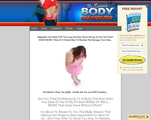 No Excuses Body Makeover: Fat Loss Membership 1