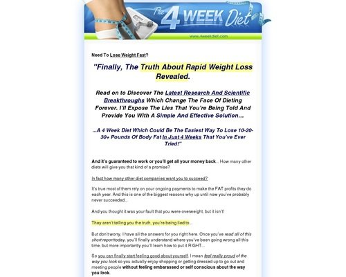 4 Week Diet - 4 Week Diet | Lose Weight Fast and Easy | Weight Loss 1