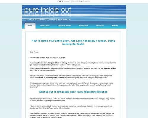 Pure Inside Out - Detox Bath: Safe and Gentle Everyday Body Detox 1