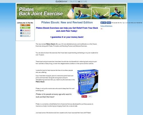 Pilates Ebook -Pilates Relief for Back and Joint Pain 1