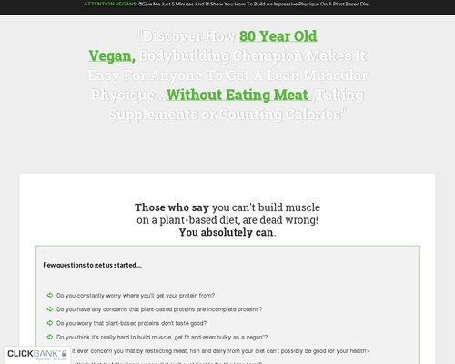 The Plant Based Bodybuilding System - Over 80 High Protein Recipes 1