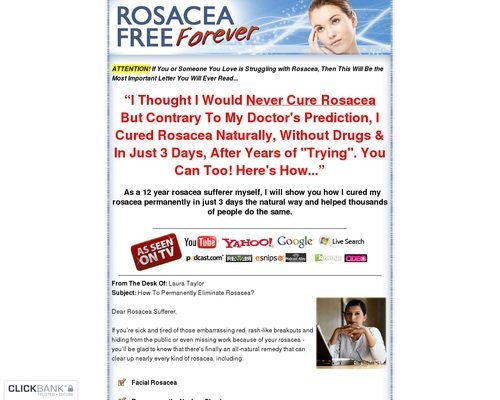 Rosacea Free Forever - How to Cure Rosacea Easily, Naturally and Forever 1