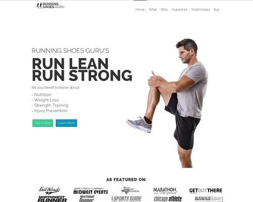 Run Lean Run Strong - By Running Shoes Guru 1