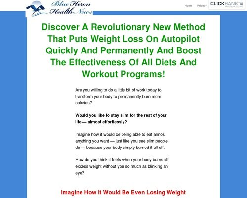 New Unique Weight Loss Method - Blue Heron Health News 1