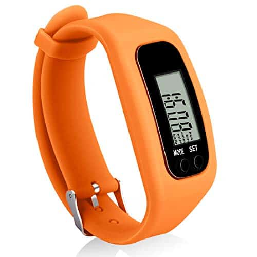 Bomxy Fitness Tracker Watch, Simply Operation Walking Running Pedometer with Calorie Burning and Steps Counting (Orange)