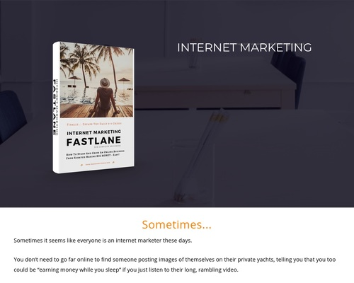 Internet Marketing Fastlane   A Training Lesson For Complete Beginners 1