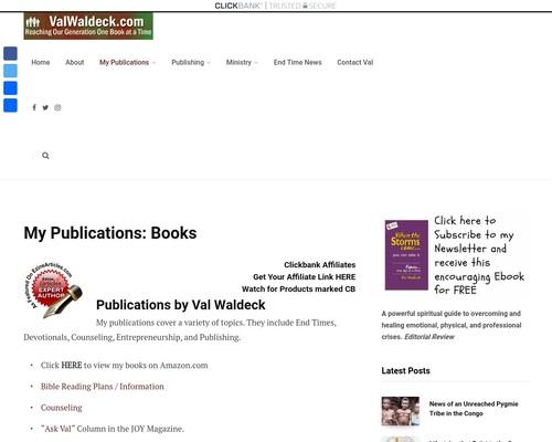 Clickbank Affiliates - ValWaldeck.com 1