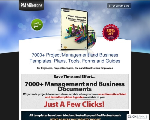 PMMilestone 2.0 Pro by PMMilestone.com :: 9000+ Project Management and Business Templates 1