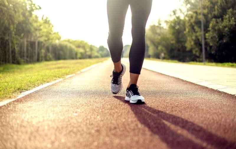 Walk every day between 30 minutes and an hour in order to manage diet without anxiety