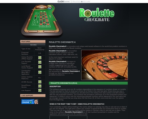 Roulette Checkmate - Software for Roulette with number prediction for EASY money and Fast profits in online casinos. 1