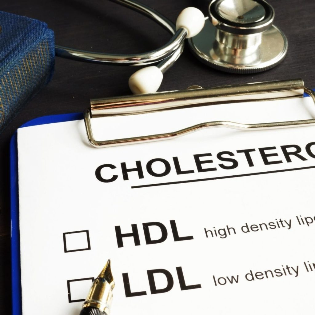 high-density lipoprotein [HDL] cholesterol levels and low-density lipoprotein [LDL]-to-HDL